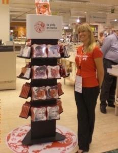 Merchandising y degustaciones gracias a la animación del punto de venta