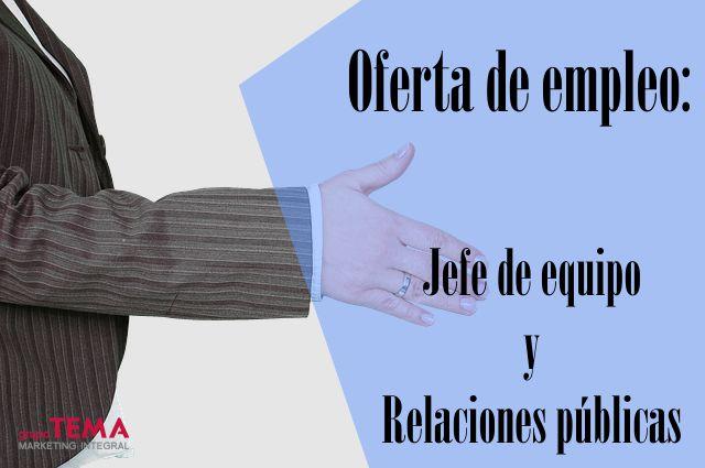 Oferta de trabajo: Jefe de equipo y Relaciones públicas en Mallorca