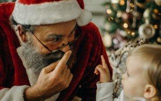 Figurantes de Papá Noel en Las Palmas de Gran Canarias